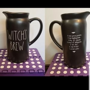 NWT RAE DUNN HALLOWEEN WITCH'S BREW PITCHER
